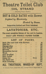 Advert for the Theatre Toilet Club